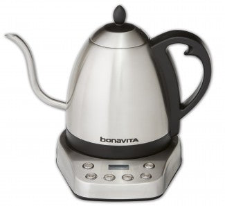 Interurban, Stainless Steel 1.0L Variable Temperature Kettle Featuring Stainless Steel Base and Gooseneck Spout