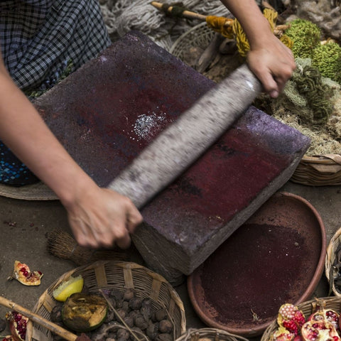 Processing natural dyes in Mexico