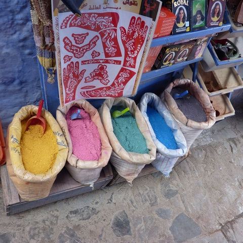 Dyes in Morrocan market