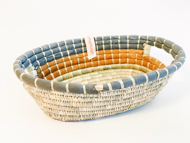 These elegantly modern and useful baskets are handmade with sustainably-harvested natural materials by the skilled artisans of WomenCraft in Tanzania, East Africa according to fair trade principles.
