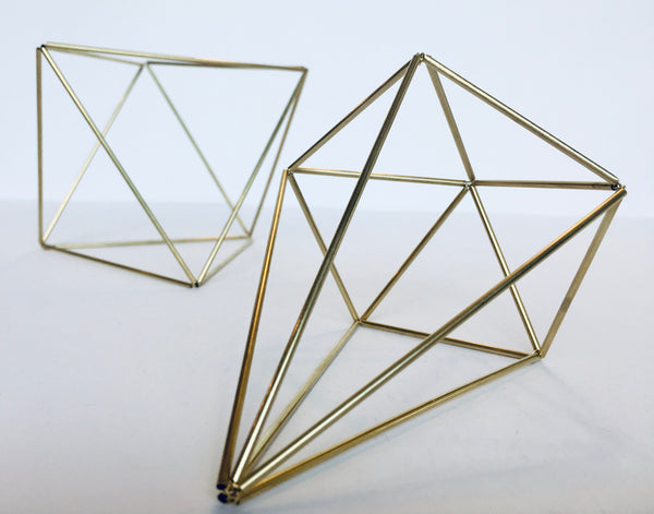 Brass Himmeli Craft Kit. Himmeli can be used as decorative ornaments, sun catchers, or air plants holders.