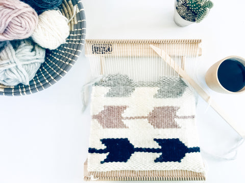 Loom Weaving Craft Kit | DIY Weaving Craft Kit for Adults and Beginners, Hardwood Loom, Wool Yarn, and Tutorial for Woven Tapestry
