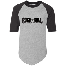Load image into Gallery viewer, Rock Fantasy Camp Youth baseball Tee
