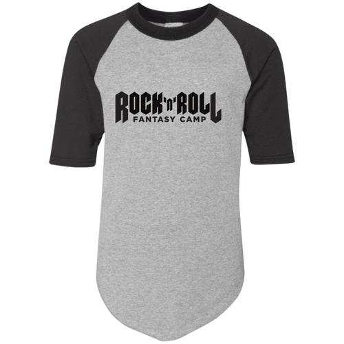 Rock Fantasy Camp Youth baseball Tee