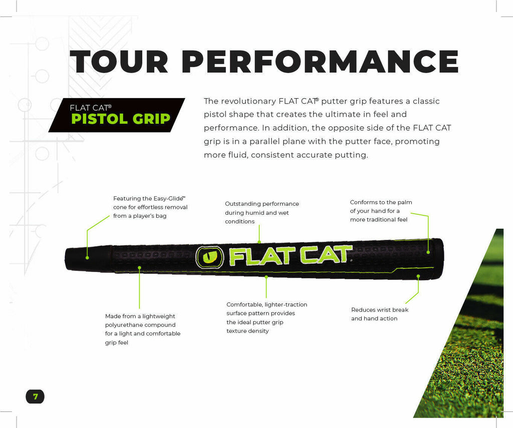 FLAT CAT PUTTER GRIP - PISTOL