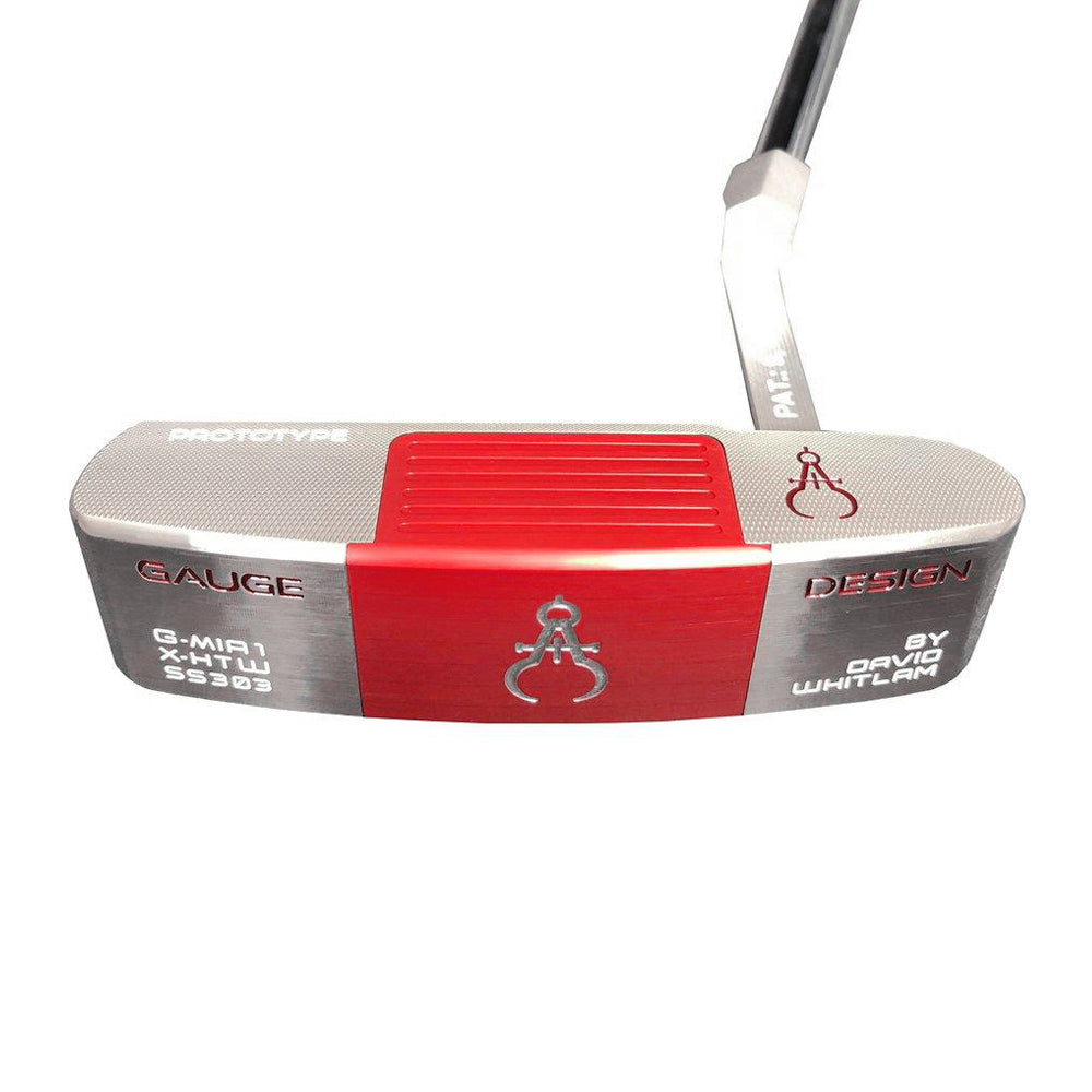 GAUGE DESIGN MIA PROTOTYPE PUTTER SILVER/RED - ASSEMBLED 34""
