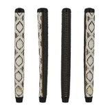 GRIP MASTER XOTIC SNAKE SKIN BONE/OSTICH BODY BLACK HYBRID PADDLE PUTTER GRIPS