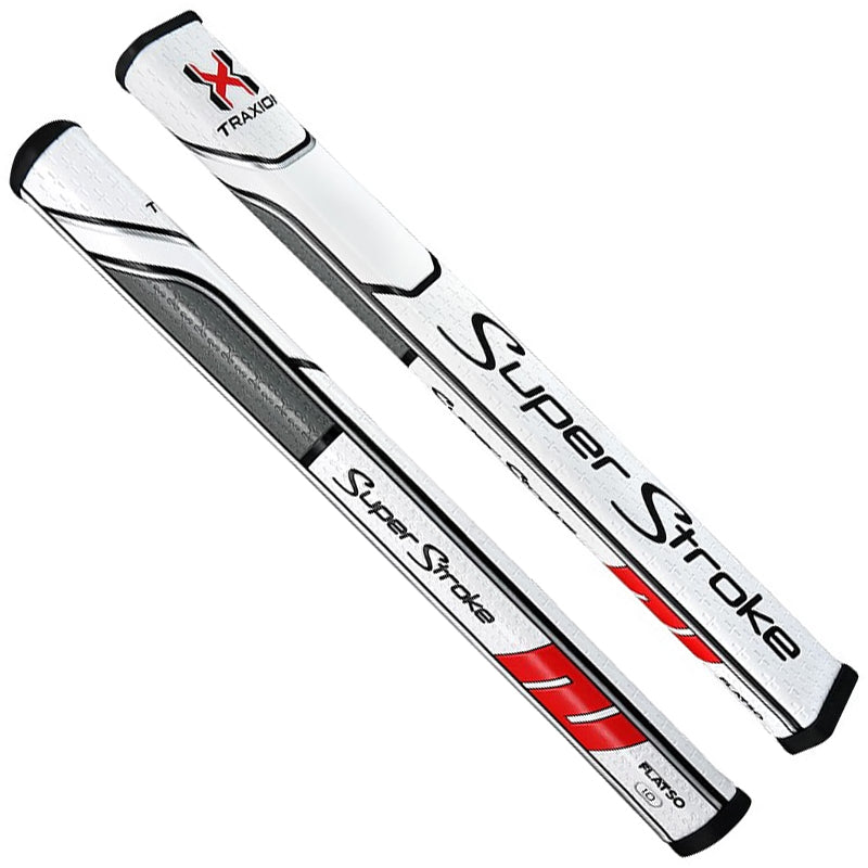 SUPER STROKE TRAXION FLATSO 1.0 PUTTER GRIP - WHT/RED/GRY