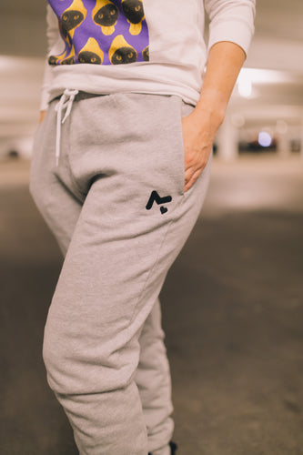 Grey Logo Sweatpants - Unisex
