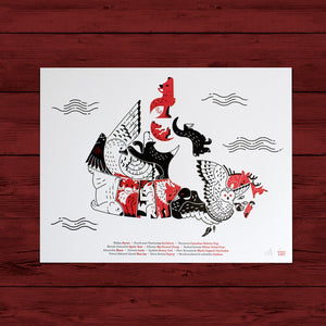 Letterpress Map of Canada