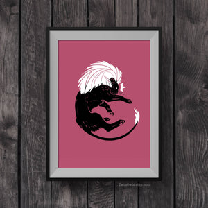 Pink Lion King – Signed 5x7 Print
