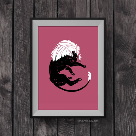 Pink Lion King - Signed 5x7 Print