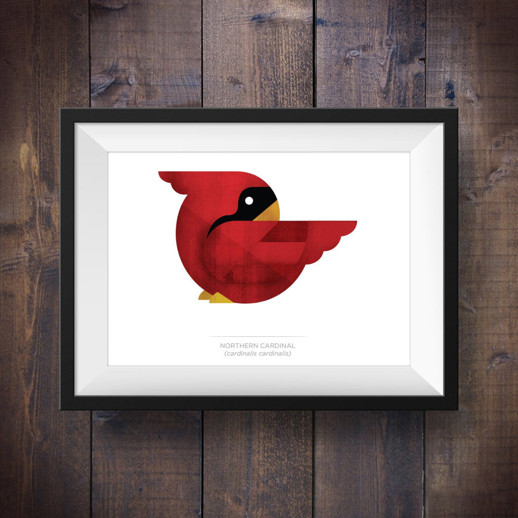 Red Northern Cardinal - Signed 5x7 Print