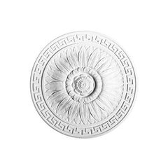 R-16-Luxxus Decorative Polyurethane Ceiling Medallion, Primed White. Diameter: 17-11/16