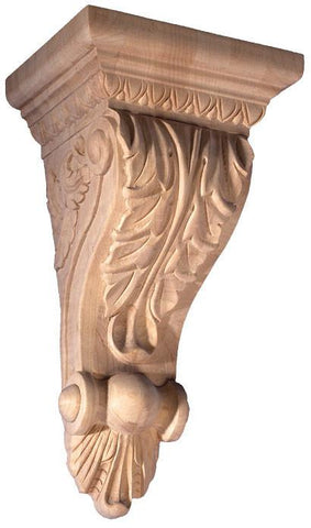 Acanthus Leaf Korbel - plain corbels , decorative wood shelf, wood embossed carvings.