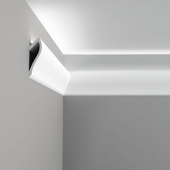 C371-Luxxus Plain Polyurethane Molding for Indirect Lighting. Length: 78-3/4