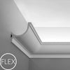 FC902-Flexible Plain Polyurethane Crown Molding, Flexible, Primed White. Face: 5-1/2