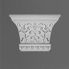 K221-Luxxus Classic Polyurethane Capital For K220, Primed White. Width: 13-3/8