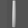 K3002-Luxxus Classic Polyurethane Fluted Whole Column, Primed White. Diameter: 12