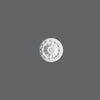 R-10-Luxxus Decorative Polyurethane Ceiling Medallion, Primed White. Diameter: 5-7/8