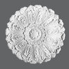 R-27-Luxxus Decorative Polyurethane Ceiling Medallion, Primed White. Diameter: 29-1/2