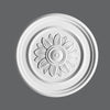 R-46-Luxxus Decorative Polyurethane Ceiling Medallion, Primed White. Diameter: 21-1/16