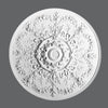 R-64-Luxxus Decorative Polyurethane Ceiling Medallion, Primed White. Diameter: 37-5/8