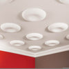 R70-Luxxus Plain Polyurethane Ceiling Medallion, Primed White. Diameter: 23-5/8