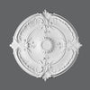 R-73-Luxxus Decorative Polyurethane Ceiling Medallion, Primed White. Diameter: 27-9/16