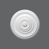 R-09-Luxxus Plain Polyurethane Ceiling Medallion, Primed White. Diameter: 19-1/8
