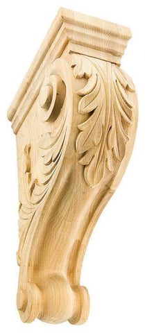Acanthus Leaf Corbel - exterior corbels, interior corbels, hand curved corbels, large , medium , small and mini corbals, corbels for sale
