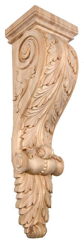 Acanthus Leaf Corbel - fireplace mentals, wainscoting, cornice, decorative corbels, architectural corbels