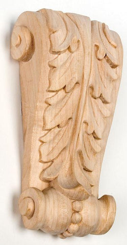 Acanthus Leaf Corbel - wood onlays, shelf supports, woodcarving, decorative brackets, antique corbels, kitchen cabinets corbels