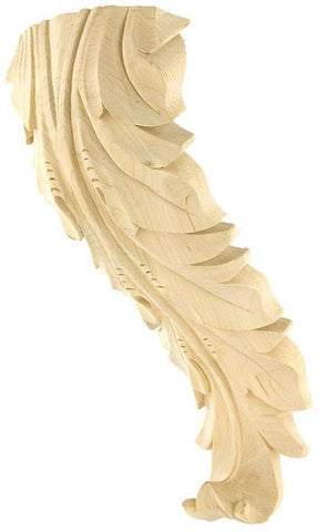 Acanthus Leaf Corbel - wooden kitchen style corbels, grape corbels, floral corbels, decorative wall corbels, hidden corbels, antique wooden corbels,arts and crafts corbels