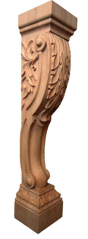 Acanthus Leaf Corbel with base - fireplace mentals, wainscoting, cornice, decorative corbels, architectural corbels