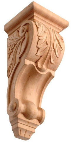 Wood sculpture Acanthus leaf for granite countertops