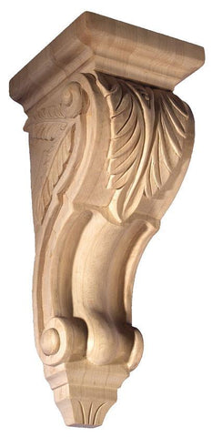 Acanthus leaf corbel - hanglng shelves, wood sculpture decorative shelf brackets