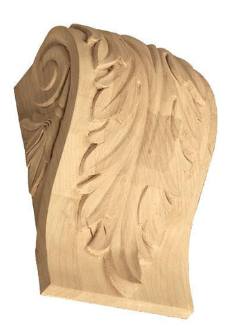 Corbels with Acanthus Leaf - wooden kitchen style corbels, grape corbels, floral corbels, decorative wall corbels, hidden corbels, antique wooden corbels,arts and crafts corbels