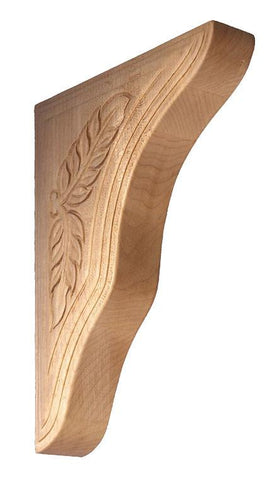 Acanthus Leaf Corbel - wood brackets, wooden shelf brackets, countertop brackets, decorative brackets.