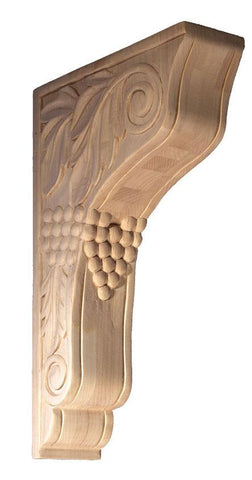 Corbel with grapes - oak corbels, alder corbels, maple corbel
