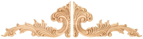 Scrolls - architectural carvings, hardwood appliques, embossed appliques, wood carved appliques, grape onlay,wood decorative appliques, buy wood carvings, architectural woodcarving