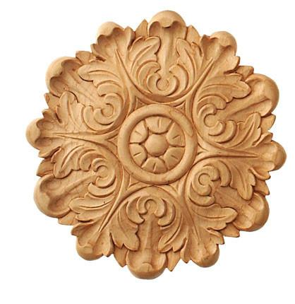 Decorative Applique 5 Dia X 1 2 D Embossed Wood Carvings Onlays Applique Crown Cherry And Maple Appliques Wooden Rosette Rosetts Hand Carved Wood Appliques Rossettes Corbel Place