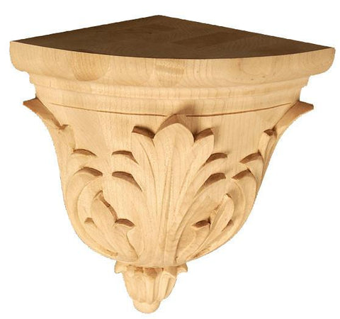 Corbel with Bracket - lion corbels, island corbels, acanthus corbel, cherry corbel, red oak corbel, mission corbel, contemporary corbels