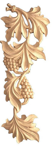 Scroll - chainsaw carvings, wooden rosettes, architectural wood carvings, wood appliques for furniture, wooden onlays for cabinets