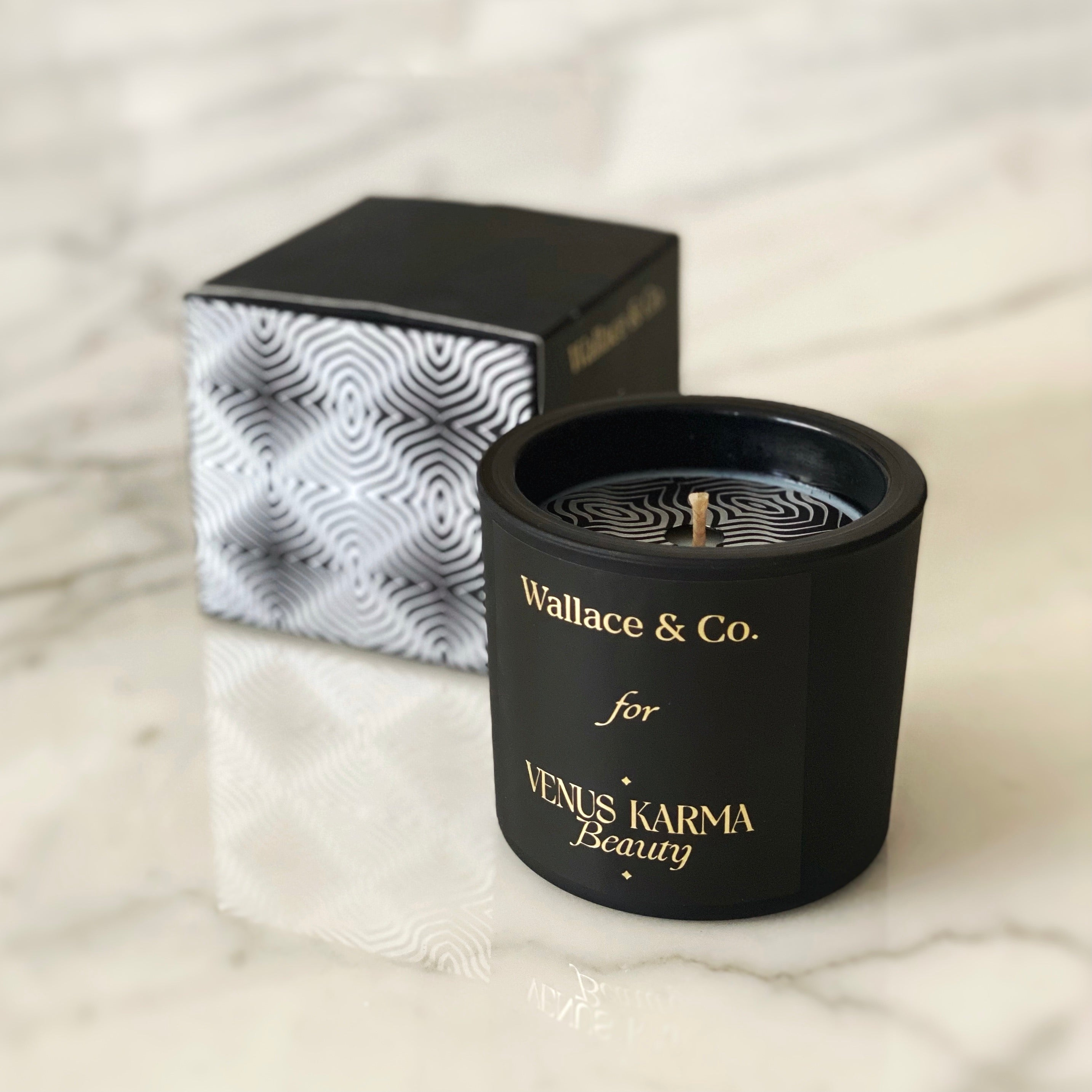 BLACK MATTE CANDLE | Leather & Oud