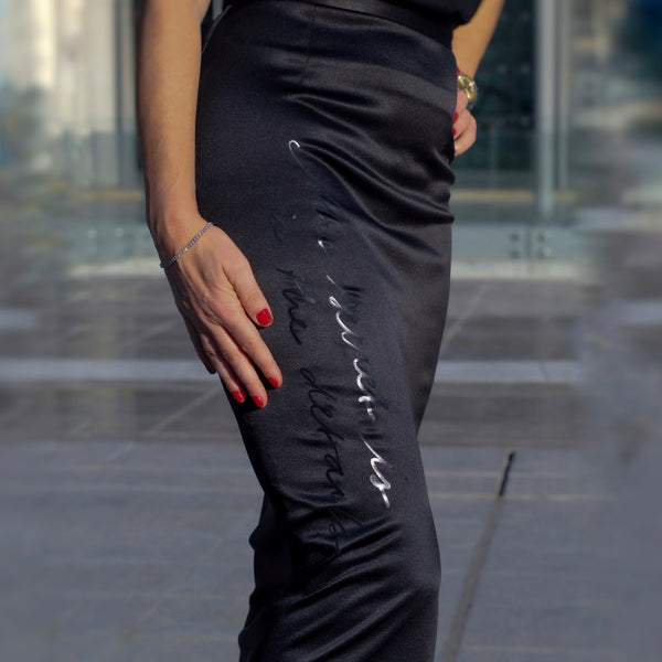 LONG SATIN SKIRT