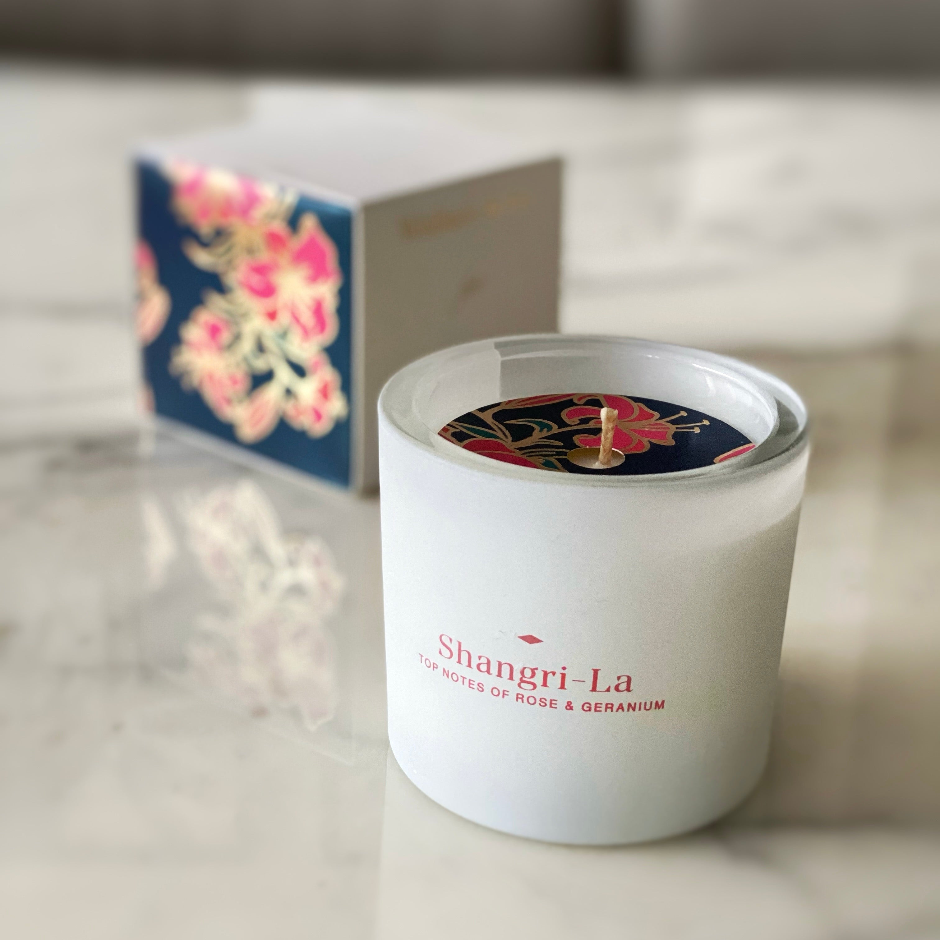 WHITE BOTANIC CANDLE | Rose & Geranium