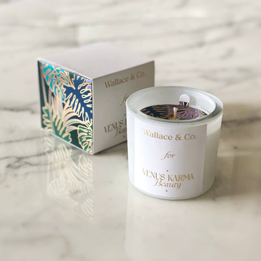 WHITE BOTANIC CANDLE | Cedar & Vetiver