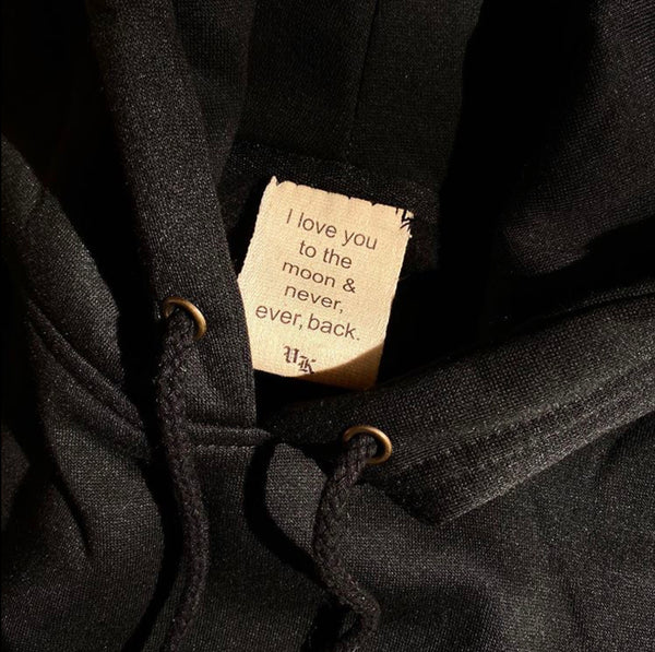 """I LOVE YOU...."" COTTON LABEL"