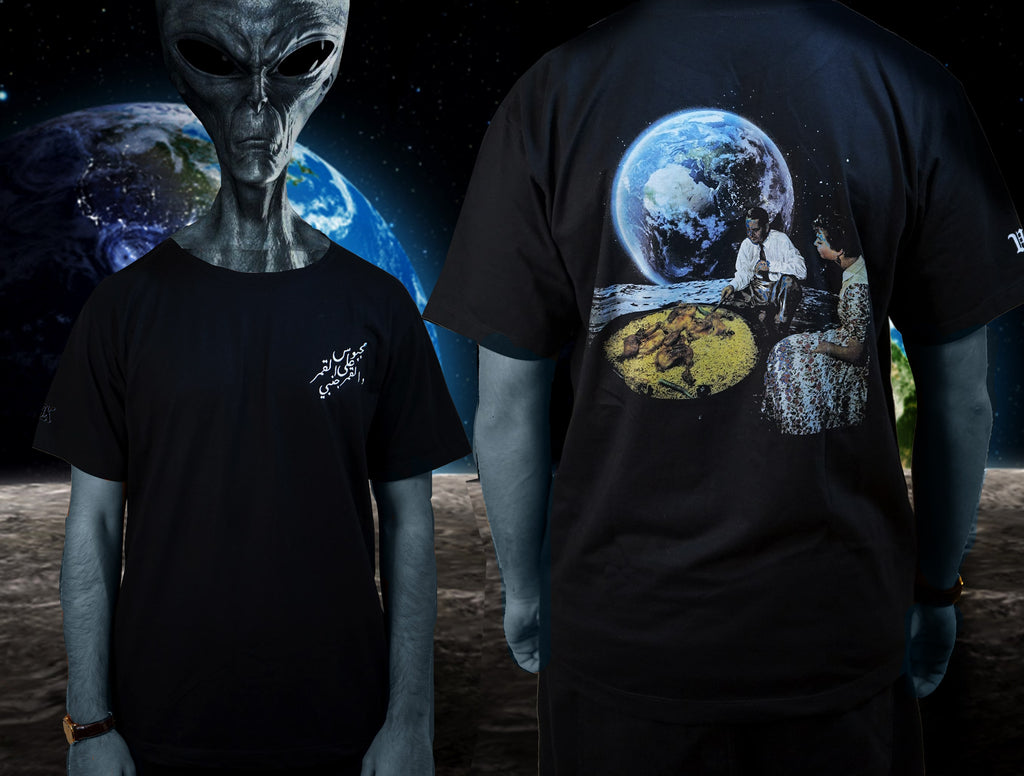 """MACHBOOS ON THE MOON"" T-SHIRT [ BACK ]"